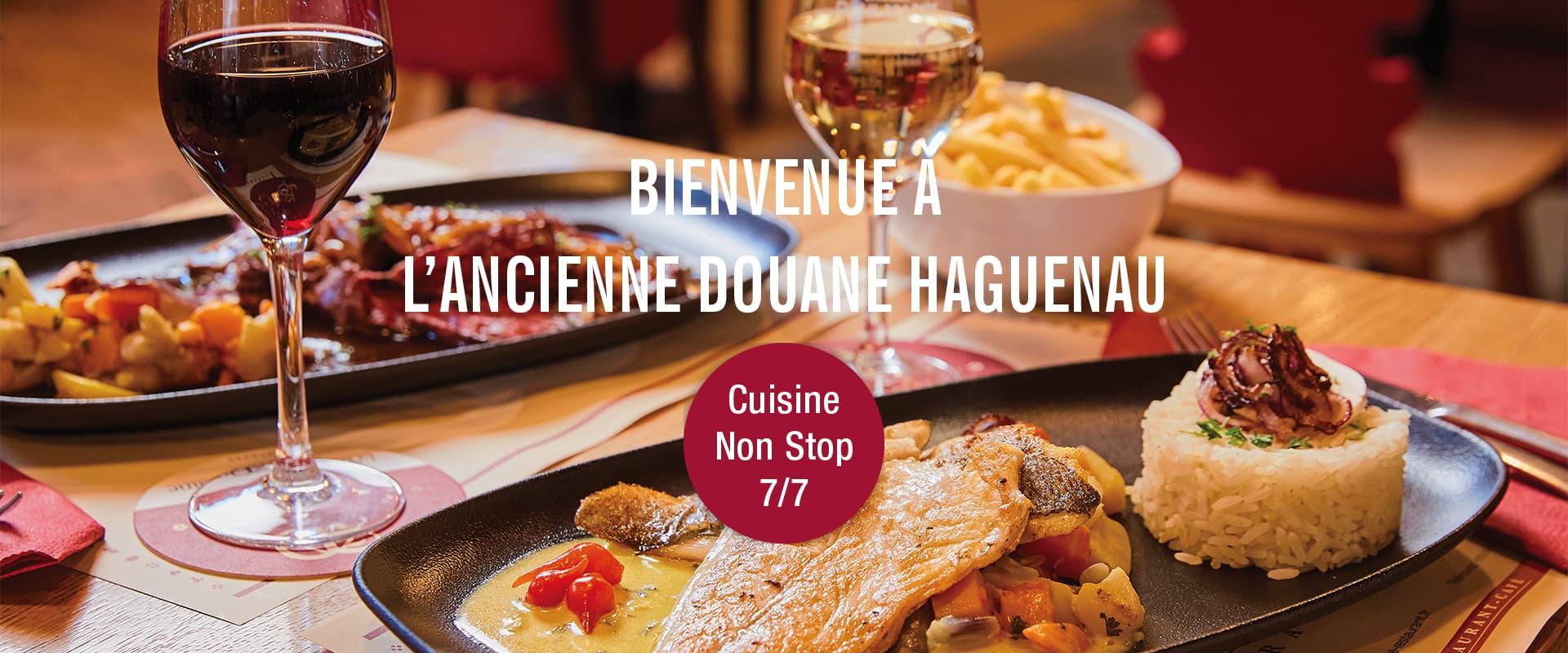 Ancienne Douane Haguenau cuisine non stop 7/7j
